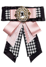 Load image into Gallery viewer, Posh Little Lady Vintage Houndstooth Bow Tie (More Colors) PRE-ORDER