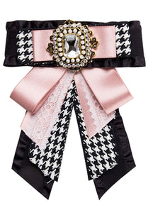 Posh Little Lady Vintage Houndstooth Bow Tie (More Colors) PRE-ORDER