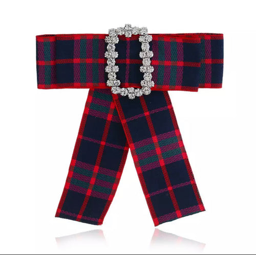 Posh Little Lady Holiday Plaid Bow Tie
