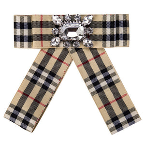Posh Little Lady Plaid Bow Tie
