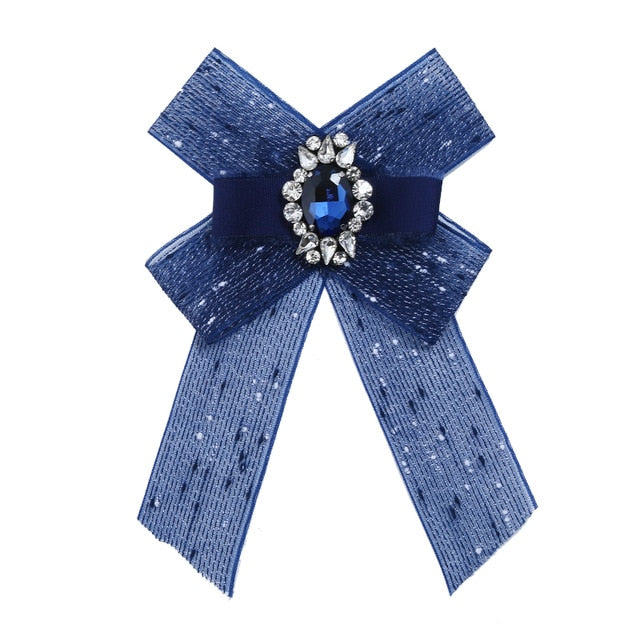Posh Little Lady Blue Bow Tie