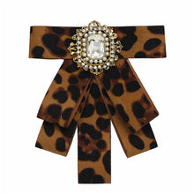 Load image into Gallery viewer, Posh Little Lady Leopard Bow Tie