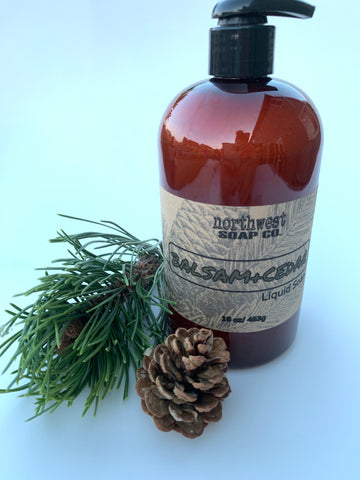 Balsam and Cedar Liquid Castile Soap - idaho-soap-and-sundries