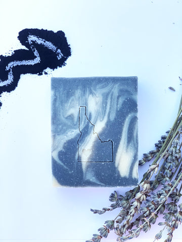 Lavender Tea Tree Charcoal Goat Milk Bar - idaho-soap-and-sundries