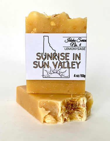 Sunrise in Sun Valley Bar Soap (Citrus Lemon Verbena)