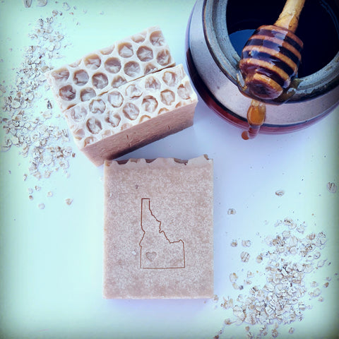 Idaho Goatmilk, Oatmeal, and Honey Bar - idaho-soap-and-sundries