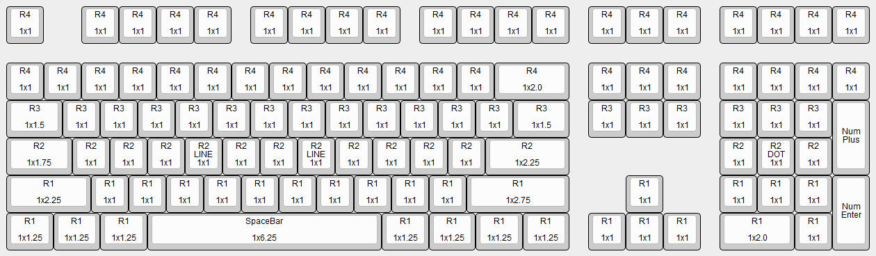 Matrix Keyboard Layout