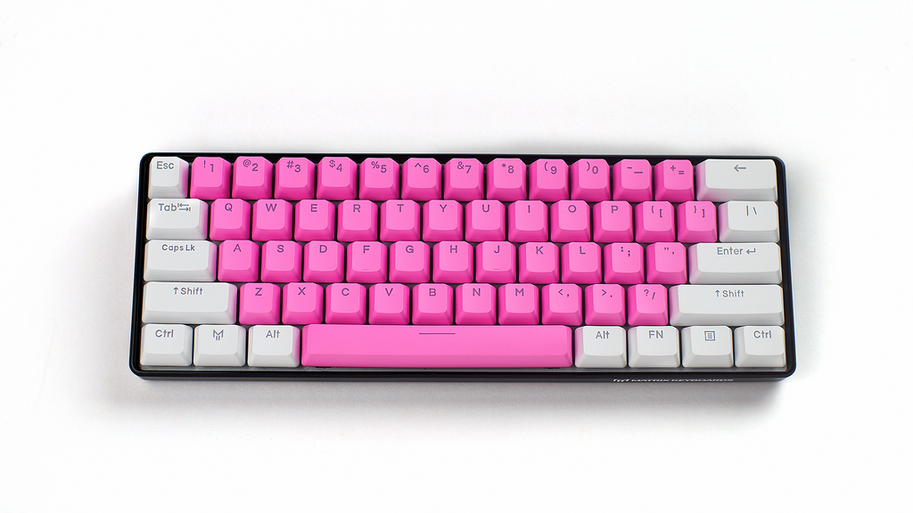 Cherry Blossom PBT Doubleshot Backlit Keycaps (Pastel Pink)