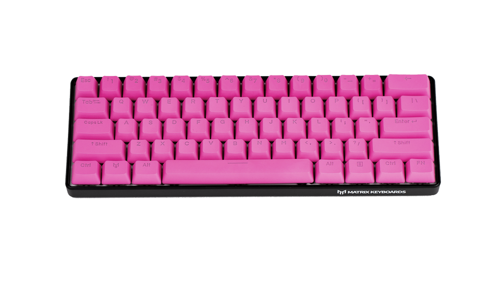 (Pre-Order June 30th Ship Date) Flamingo (Neon Pink) PBT Doubleshot Backlit Keycaps