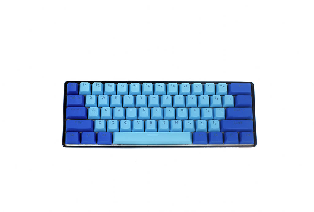 Blizzard Light Blue PBT Doubleshot Backlit Keycaps