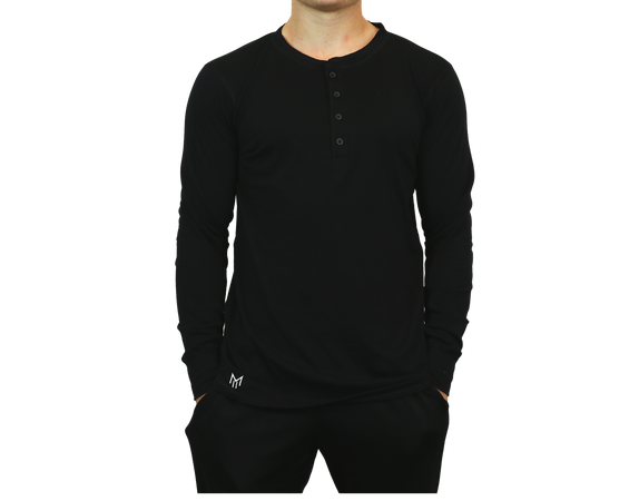 Long Sleeve Henley Tshirt
