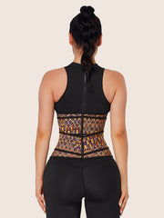 Womens African Printing Latex Waist Trainer