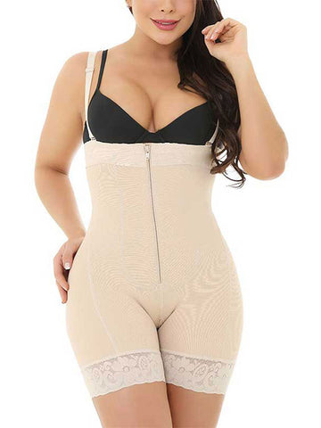 Open Crotch Tummy Control Plus Size Body Shaper