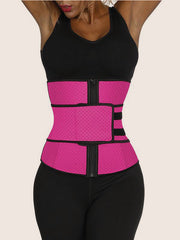 Waist Trainer Tummy Trimmer Zipper Latex Cincher