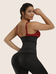 Adjustable Velcro Corset Trimmer Belt Body Shaper Zipper