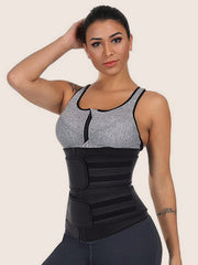 High Compression Zipper Slimming Body Latex Waist Cincher