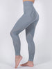 Stylish Black Solid Color Hollow Out Seamless Yoga Leggings