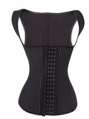 4 Rows Hooks Latex Slimming Waist Cincher Top