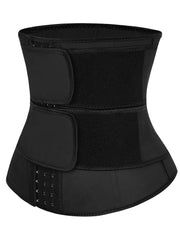 Double Belt Sdjustable Three-breasted Buckle Waist Cincher