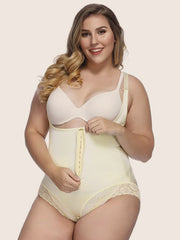 Plus Size Underbust Brief Zipper Hook Bodysuit Shaper