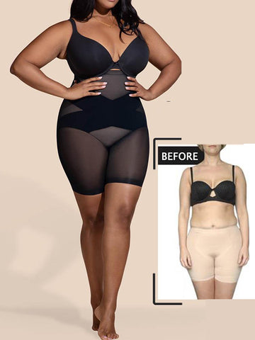 Seamless Tummy Control  Plus Size Latex Shapewear