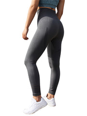 Perforated High Waist Loose Yoga Leggings
