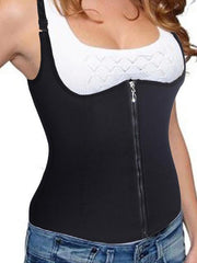 Adjustable Shoulder Strap Zipper Hook Waist Trainer Shaper