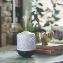 Load image into Gallery viewer, Champagne Palmette Ultrasonic Aroma Diffuser