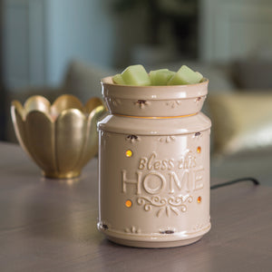 Cream Bless This Home Illumination Warmer
