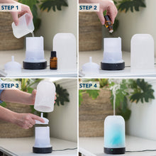 Load image into Gallery viewer, Frosted Glass Ultrasonic Aroma Diffuser