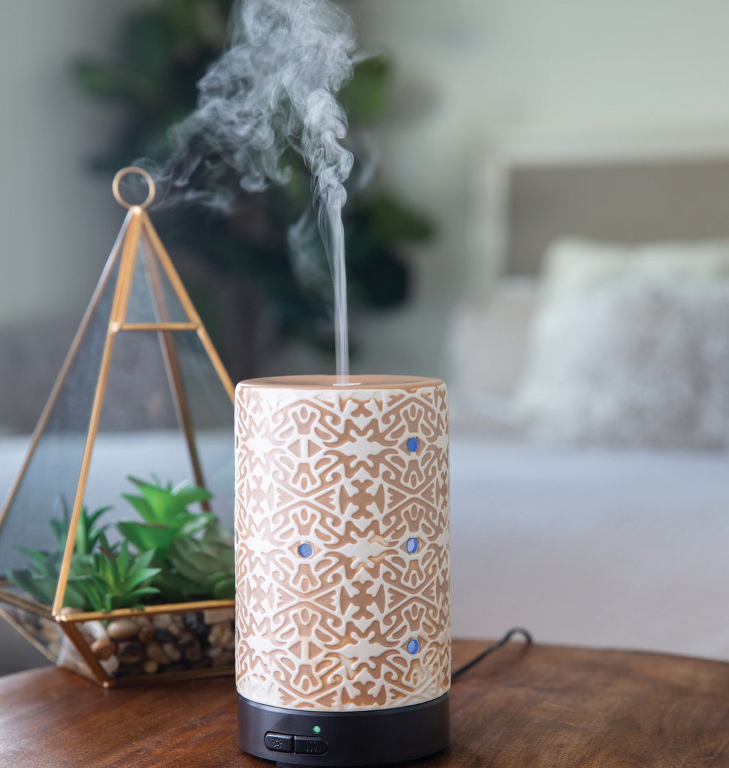 White Terracotta Ultrasonic Aroma Diffuser - OUT OF STOCK