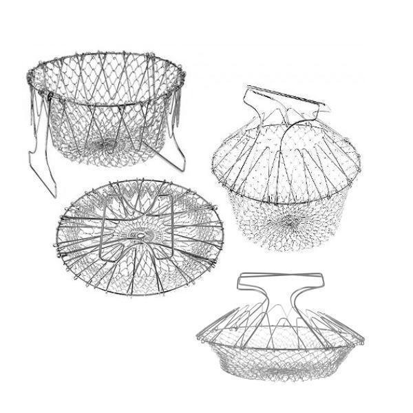 Stainless Steel Flexible Kitchen Basket