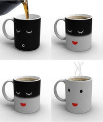 Annoyed to Happy Face Color Changing Mug