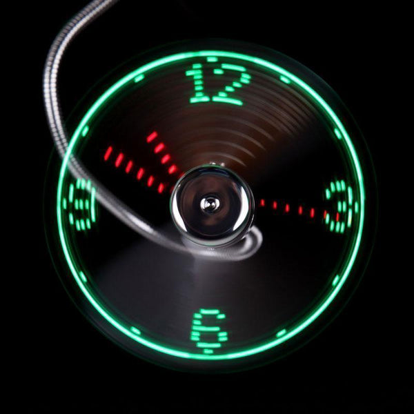 Adjustable USB LED Fan Desktop Clock