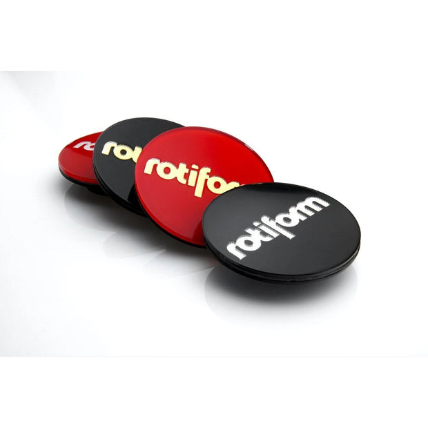 "Rotiform Hex Center Cap Insert - ""Rotiform"" Logo - Lowered Lifestyle"