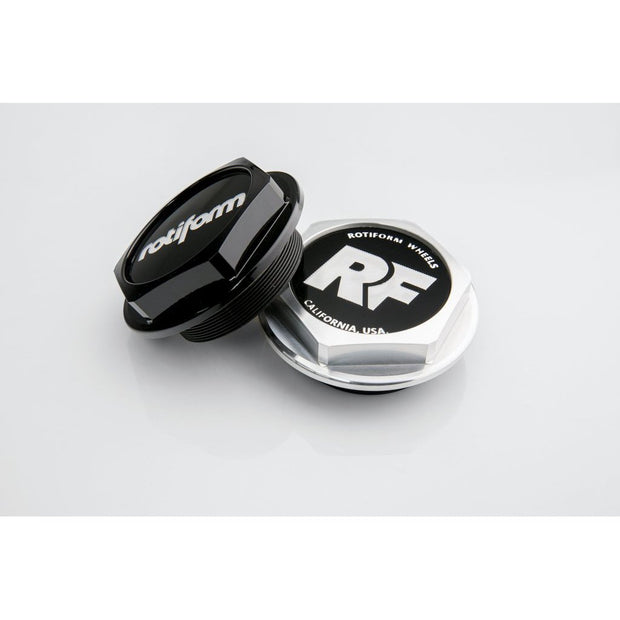 "Rotiform Hex Center Cap with ""Rotiform"" logo - Gloss Black - Lowered Lifestyle"