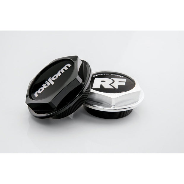 "Rotiform Hex Center Cap with ""RF"" logo - Machined Silver - Lowered Lifestyle"