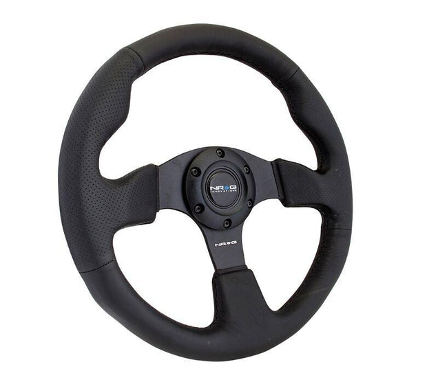 NRG Steering Wheel - Reinforced Leather with black stitch