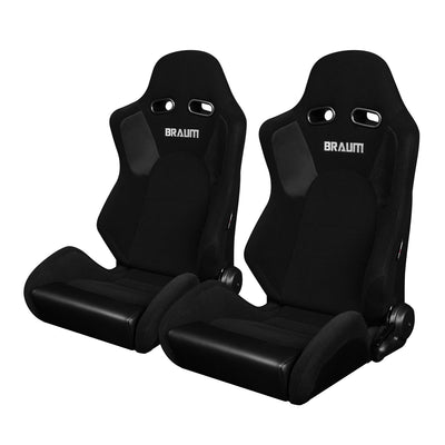 Braum Advan Series Sport Seats - Black Cloth (PAIR)