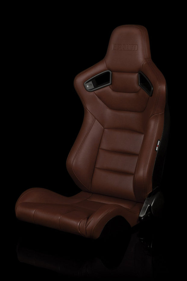 Braum Elite Series Sport Seats - Brown Leatherette (PAIR) - Lowered Lifestyle
