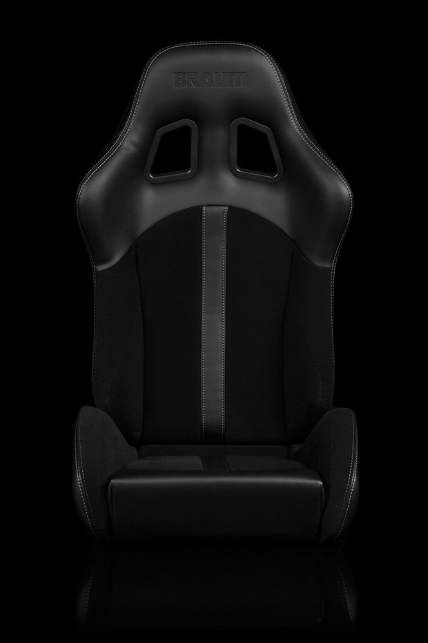 Braum Defender Series Sport Seats - Black / Black Stripe (PAIR)