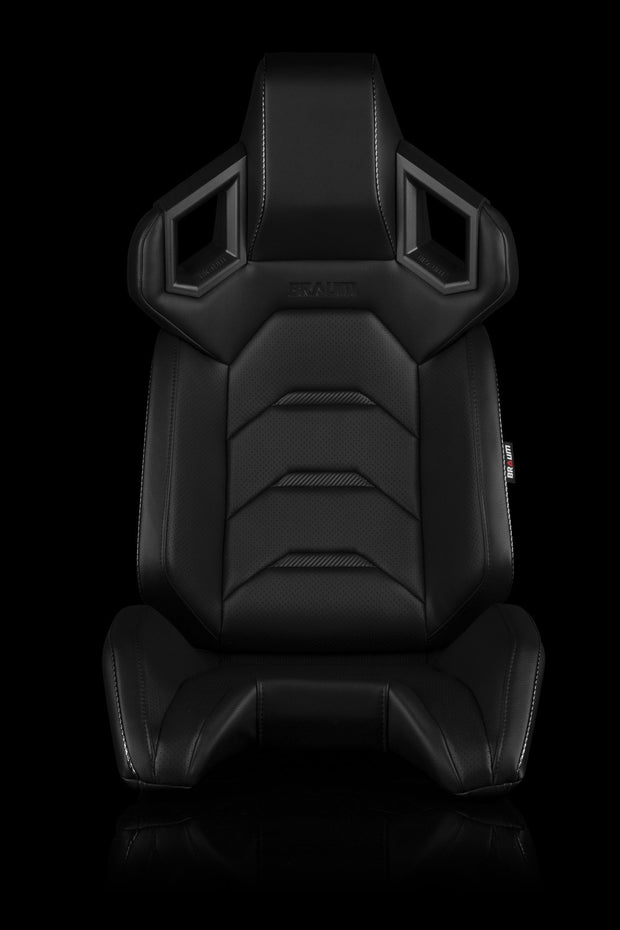 Braum Alpha-X Series Racing Seats - Black & Carbon Fiber (PAIR) - Lowered Lifestyle