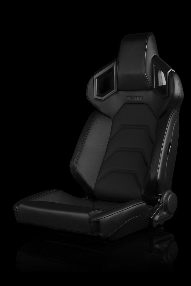 Braum Alpha-X Series Racing Seats - Black Stitching / Low Base (PAIR) - Lowered Lifestyle