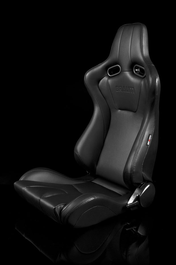 Braum Venom Series Sport Seats - Black Leatherette (PAIR)
