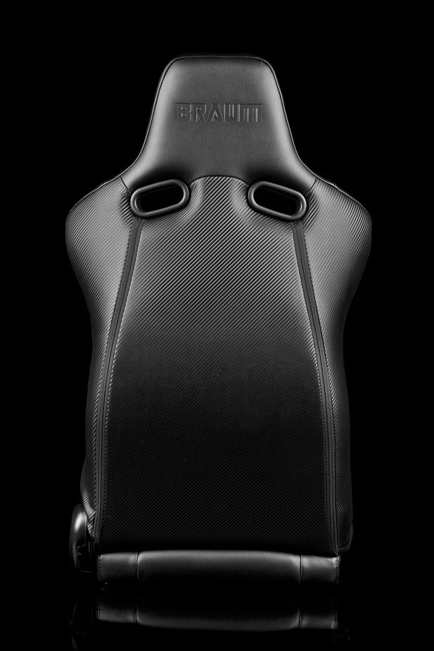 Braum Venom Series Sport Seats - Black Leatherette (PAIR) - Lowered Lifestyle