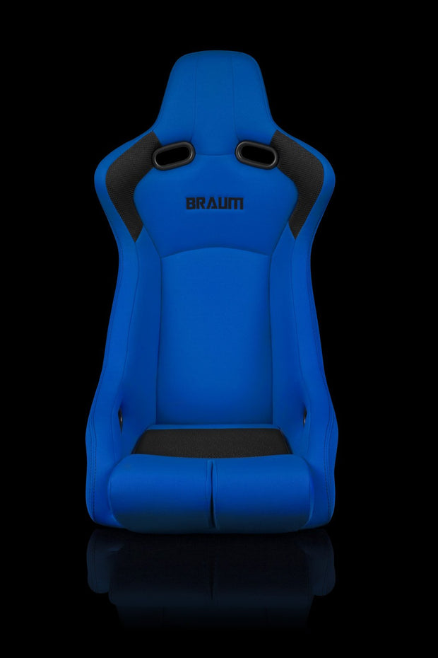 Braum Venom-R Series Fixed Back Bucket Seat - Blue Cloth / Carbon Fiber