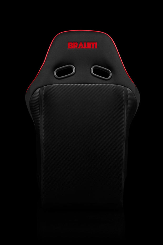 Braum Falcon X Series FIA Approved Fixed Back Racing Seat / Black & Red - Lowered Lifestyle