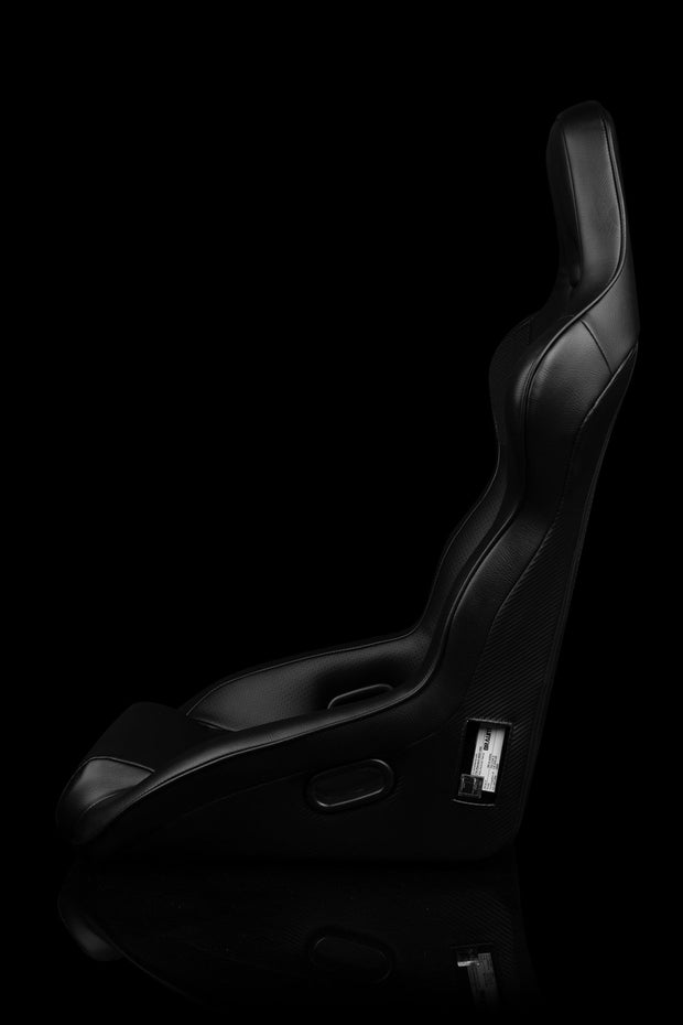 Braum Falcon X Series FIA Approved Fixed Back Racing Seat / Black Leatherette - Lowered Lifestyle