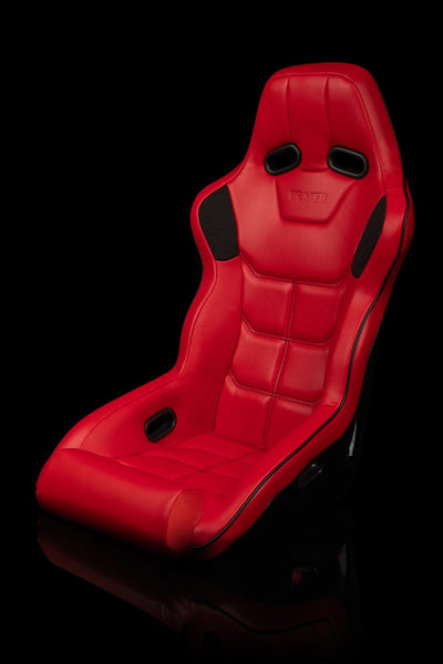 Braum Falcon X Series FIA Approved Fixed Back Racing Seat / Red Leatherette