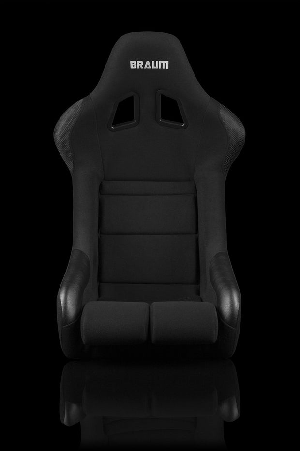 Braum FIA Approved Falcon Series Fixed Back Racing Seat - Black Cloth - Lowered Lifestyle